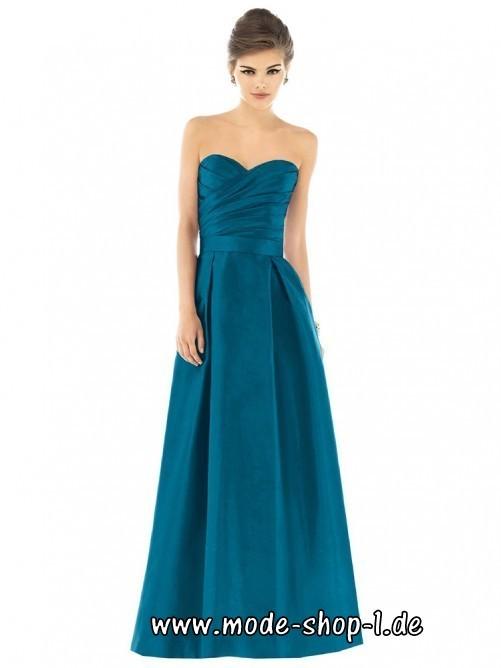 A Linie Abendkleid Kolumbine Trägerlos in Blau | Kleid ...