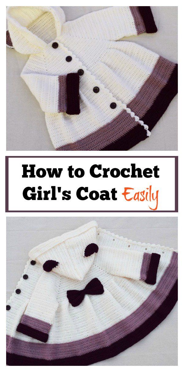 How to Crochet Girls Coat Easily | Tejido, Bebe y Abrigos