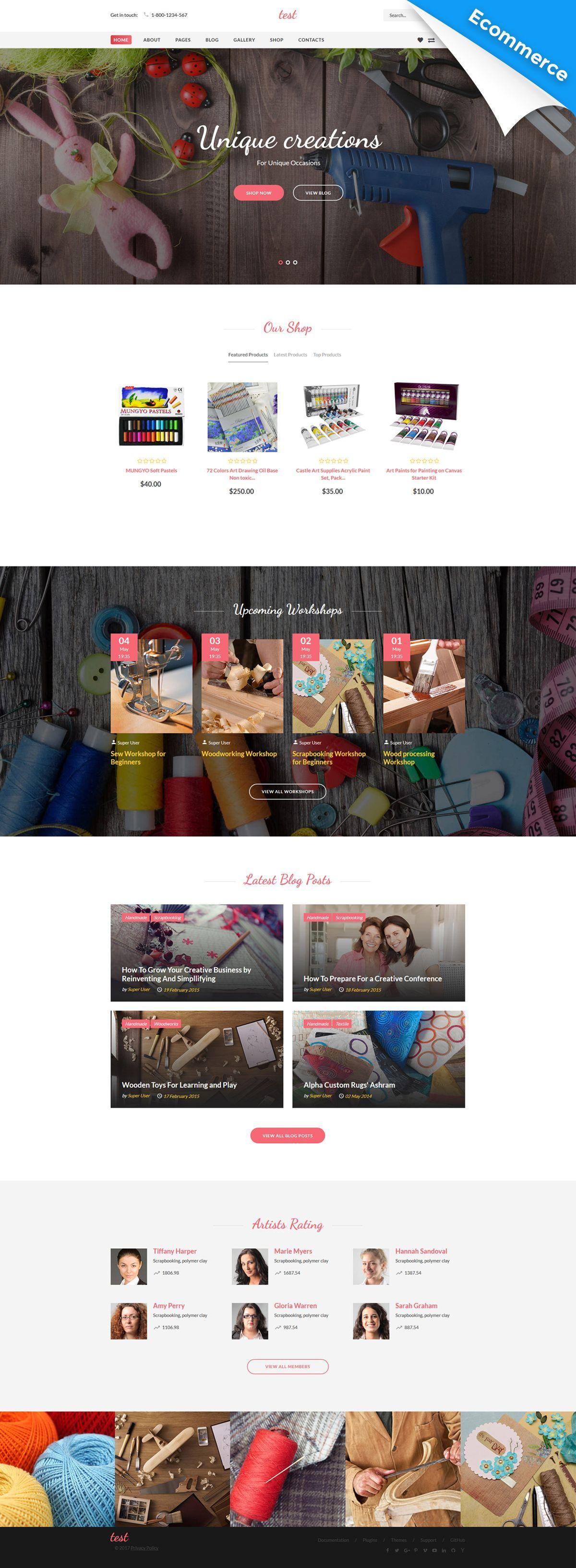 Creative Joomla VirtueMart eCommerce Template - https://www.templatemonster.com/joomla-templates/handmade-creative-shop-virtuemart-joomla-template-61138.html