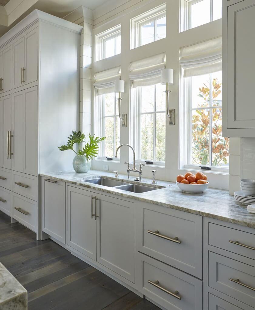 Santa Rosa Beach House Tour Santa Rosa Beach 30a Kitchen Window Design Light Grey Kitchen Cabinets Light Grey Kitchens