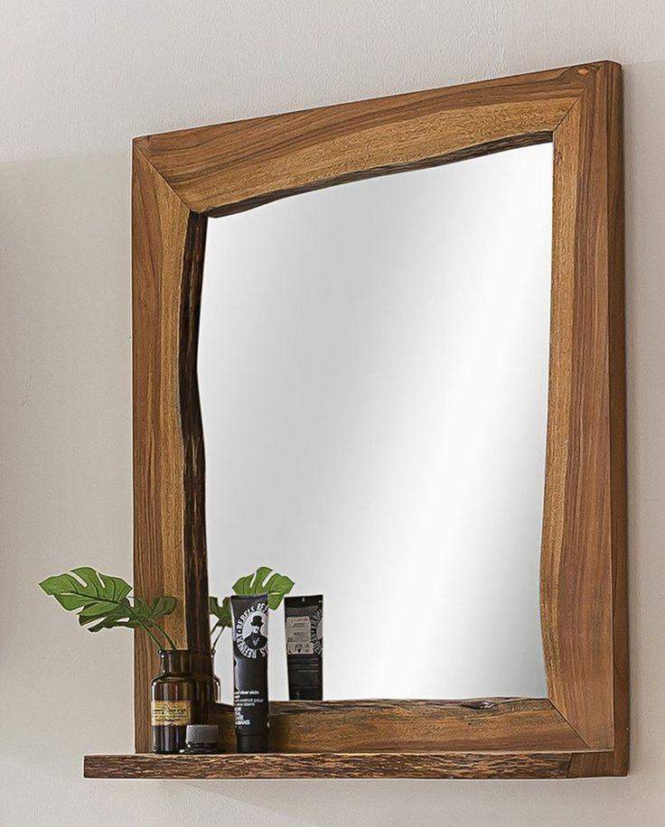 Kasper Wohndesign Badezimmer Spiegel Akazie Massiv Holz Live Edge