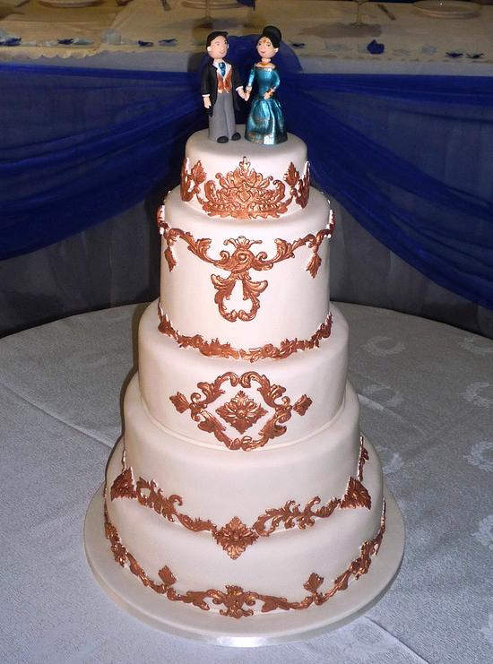 Baroque Versailles Inspired Asian Indian Wedding Cake By Eva Rose Cakes