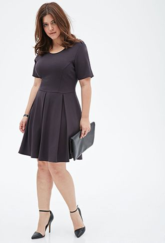 Pleated Ponte Knit Dress | Nice Outfits | Dresses, Full ...