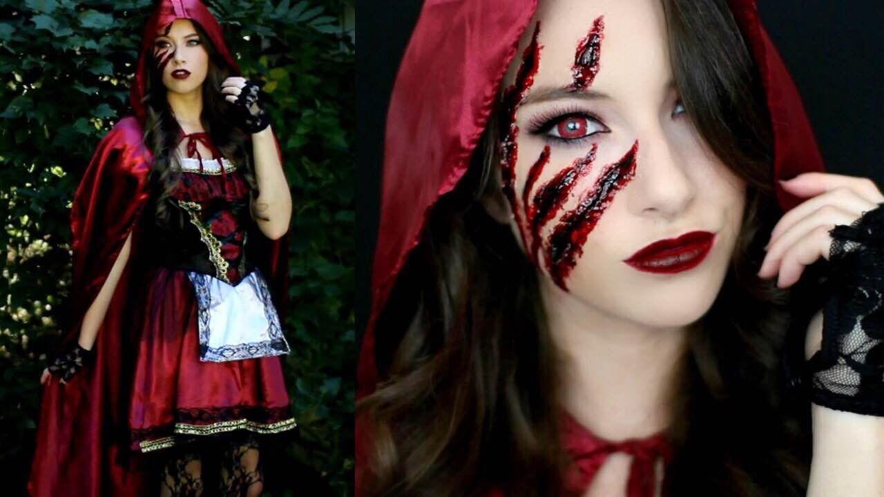 Little Red Riding Hood Halloween Makeup Tutorial Costume