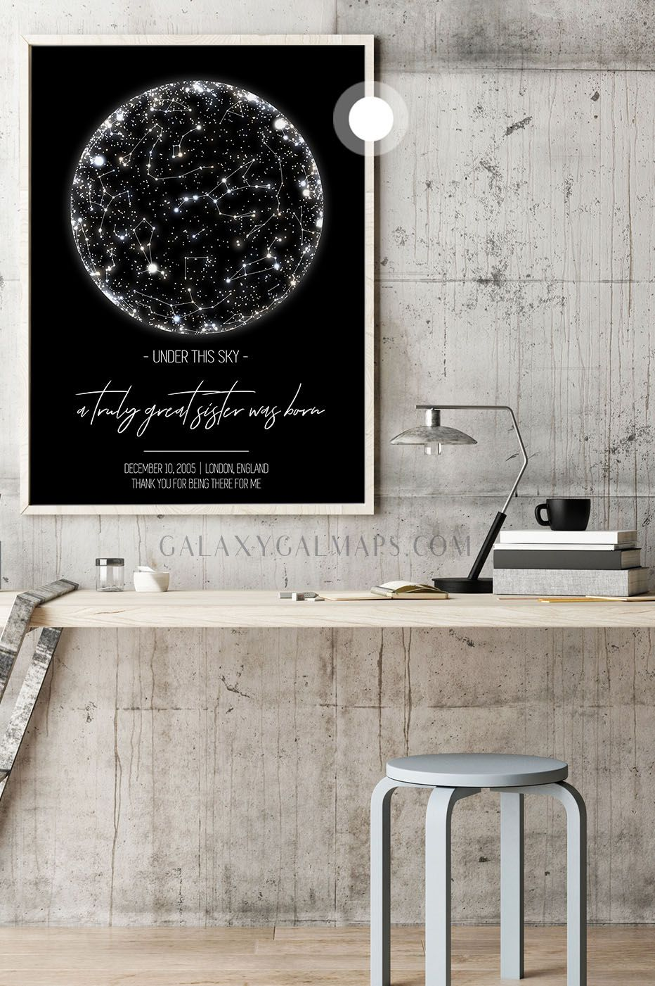 Photo of Your CUSTOM Star Map by Date  – Canvas Wall Art, Universe, Winter Poster Print, …