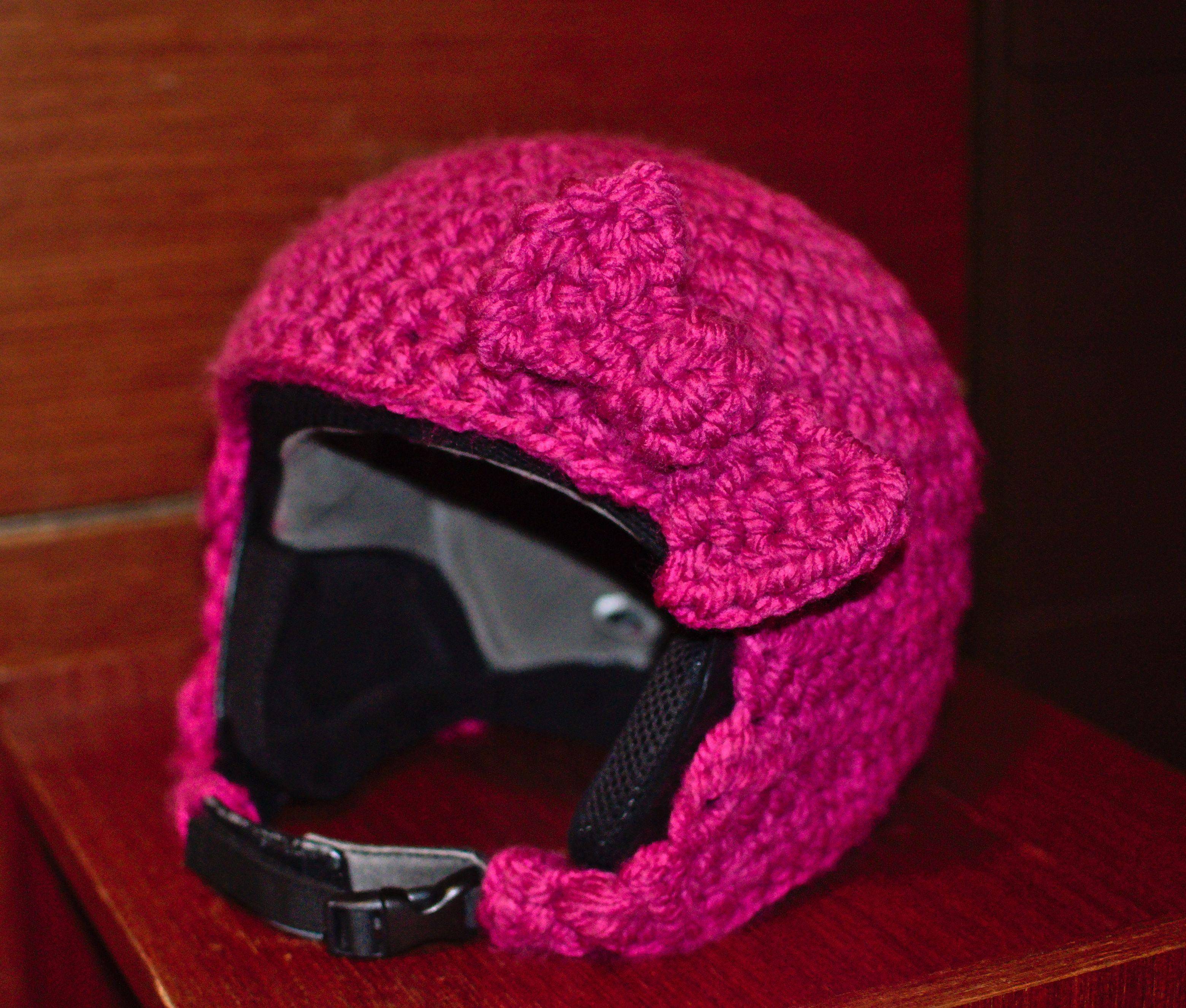 crochet ski helmet cover | My DIY | Pinterest | Helmet covers ...