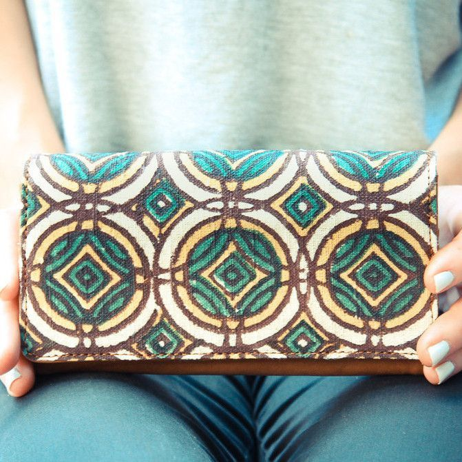 Foldover Wallet- Stained Glass