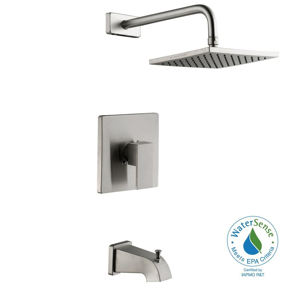 Schon Marx Single-Handle 1-Spray Tub and Shower Faucet in Brushed ...