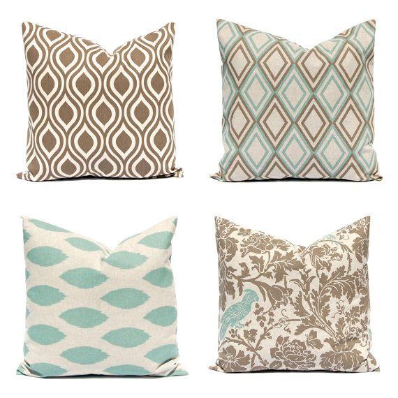 Euro Sham Couch Pillow Covers Sofa Pillows Seafoam Green