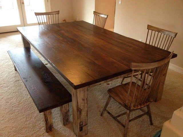 Delightful Farmhouse Dining Table Oak Series For Long Durability