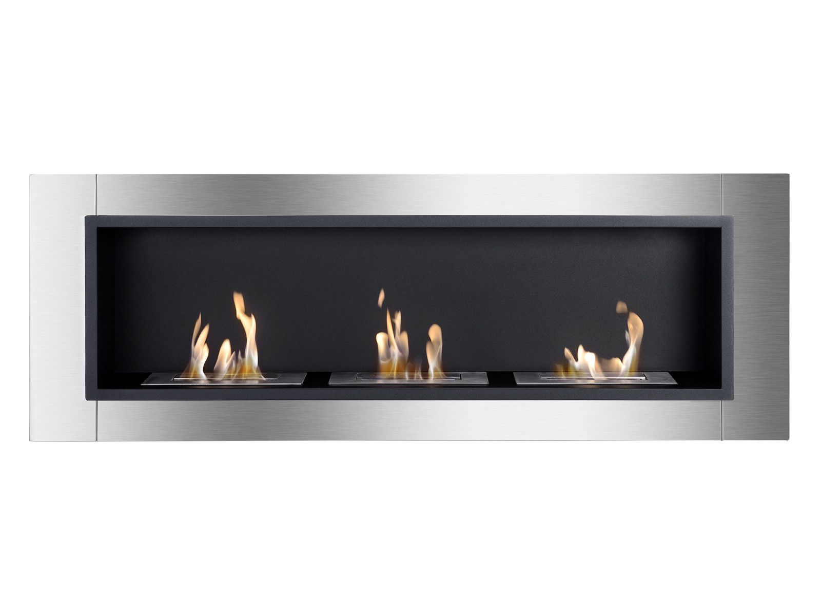 Ardella Wall Mounted Recessed Ventless Ethanol Fireplace