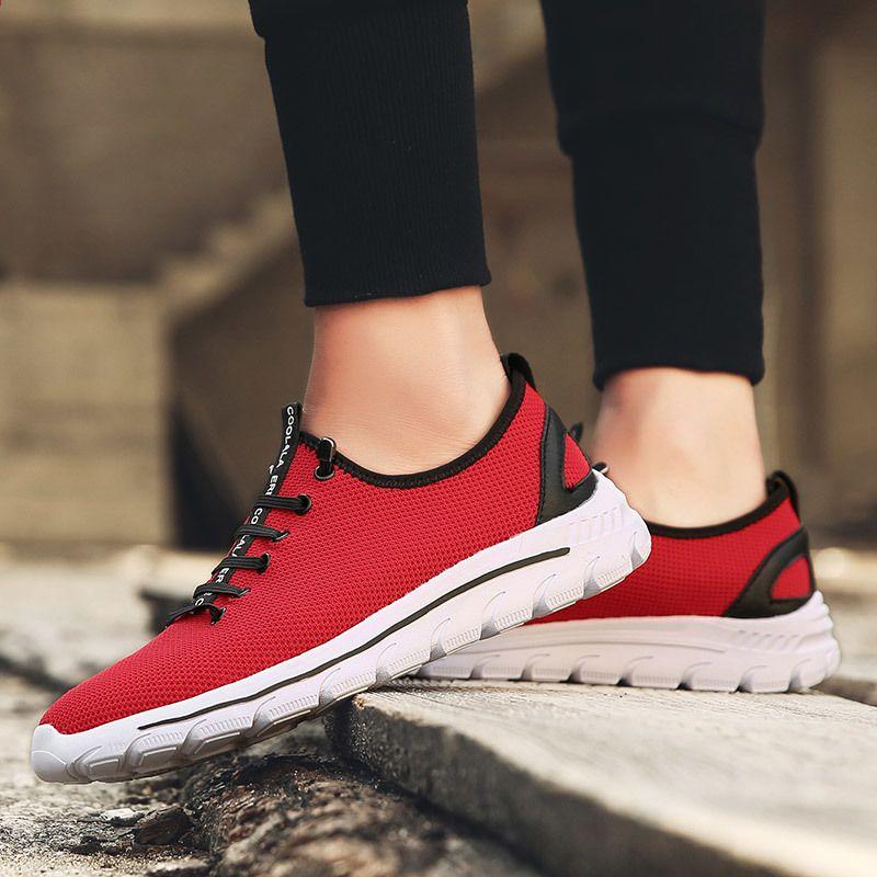 Ogien Meskie Buty Do Chodzenia Letnie Trampki Wiosna Miekkie Buty Sportowe Meskie Tenisowki Hombre Zapatoas Outdoor Lek Sneakers Elastic Laces Running Sneakers