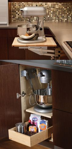 Superior Mixer U0026 Kitchen Appliance Storage Cabinet   A Mixer Or Other Heavy Kitchen  Appliance Can Be