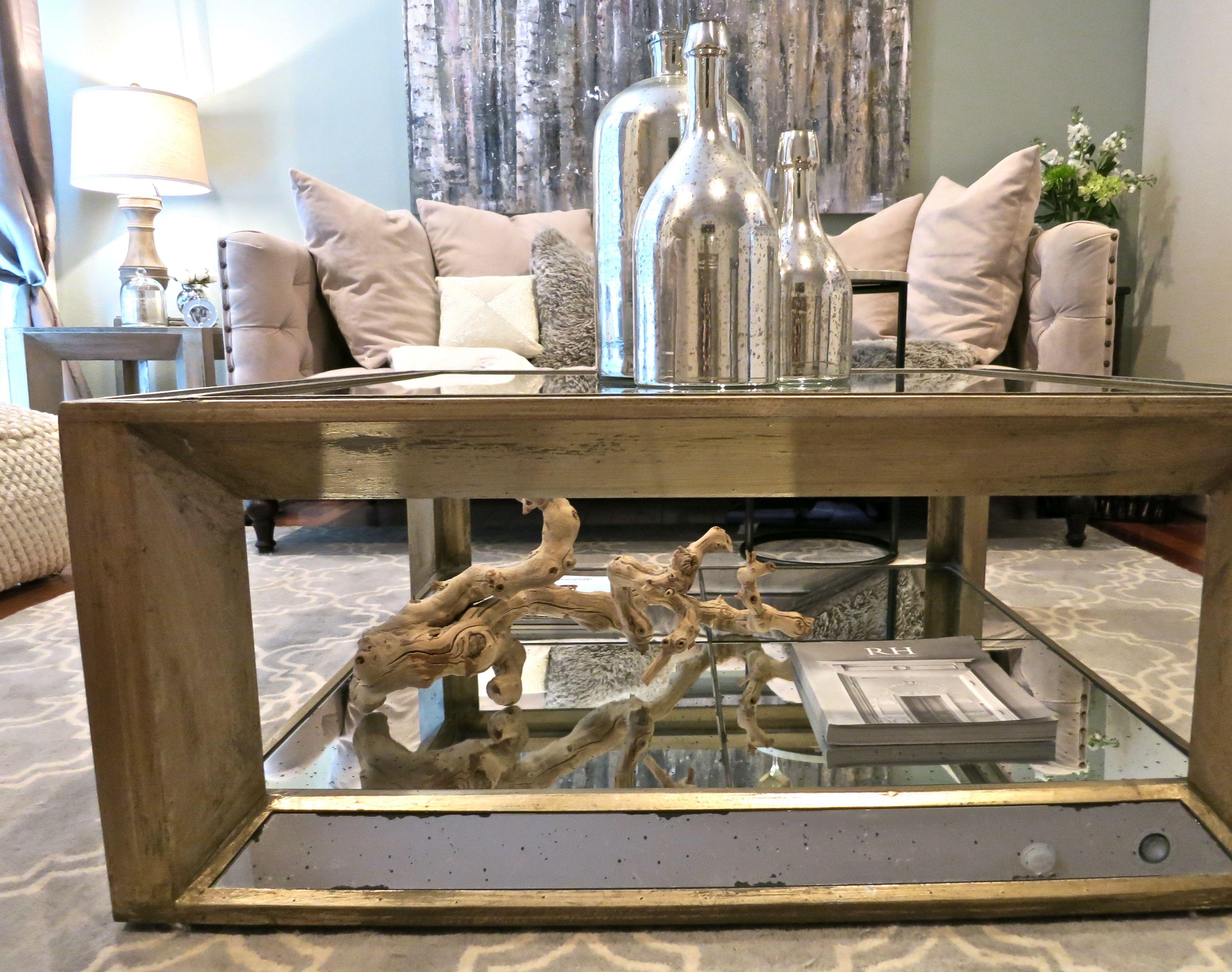@Z Gallerie Pascual Coffee Table + Hobby Lobby Mercury ...