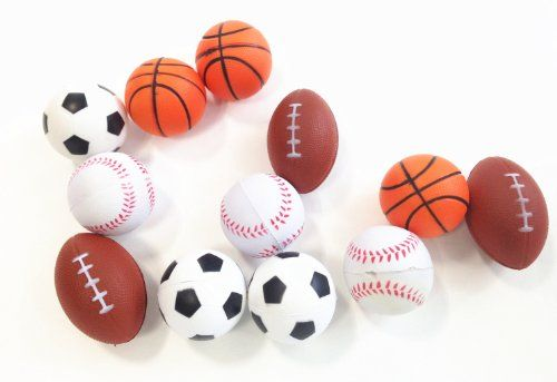 Dazzling Toys Set Of 24 Sports Balls For Kids Soccer Ball Basketball Football Tennis Ball 2 Dozen Click On The Image Kids Soccer Sports Balls Soccer Ball