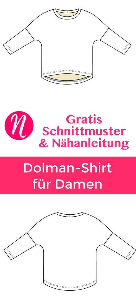 Oversized Shirt für Damen | Schnittmuster | Pinterest | Nähen ...
