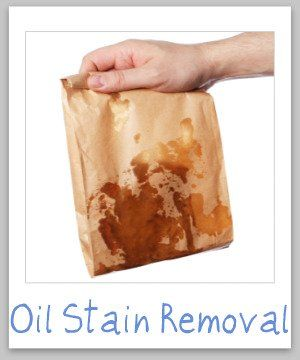Oil stain removal guide to remove oily food stains from clothing, upholstery and carpet {on Stain Removal 101}