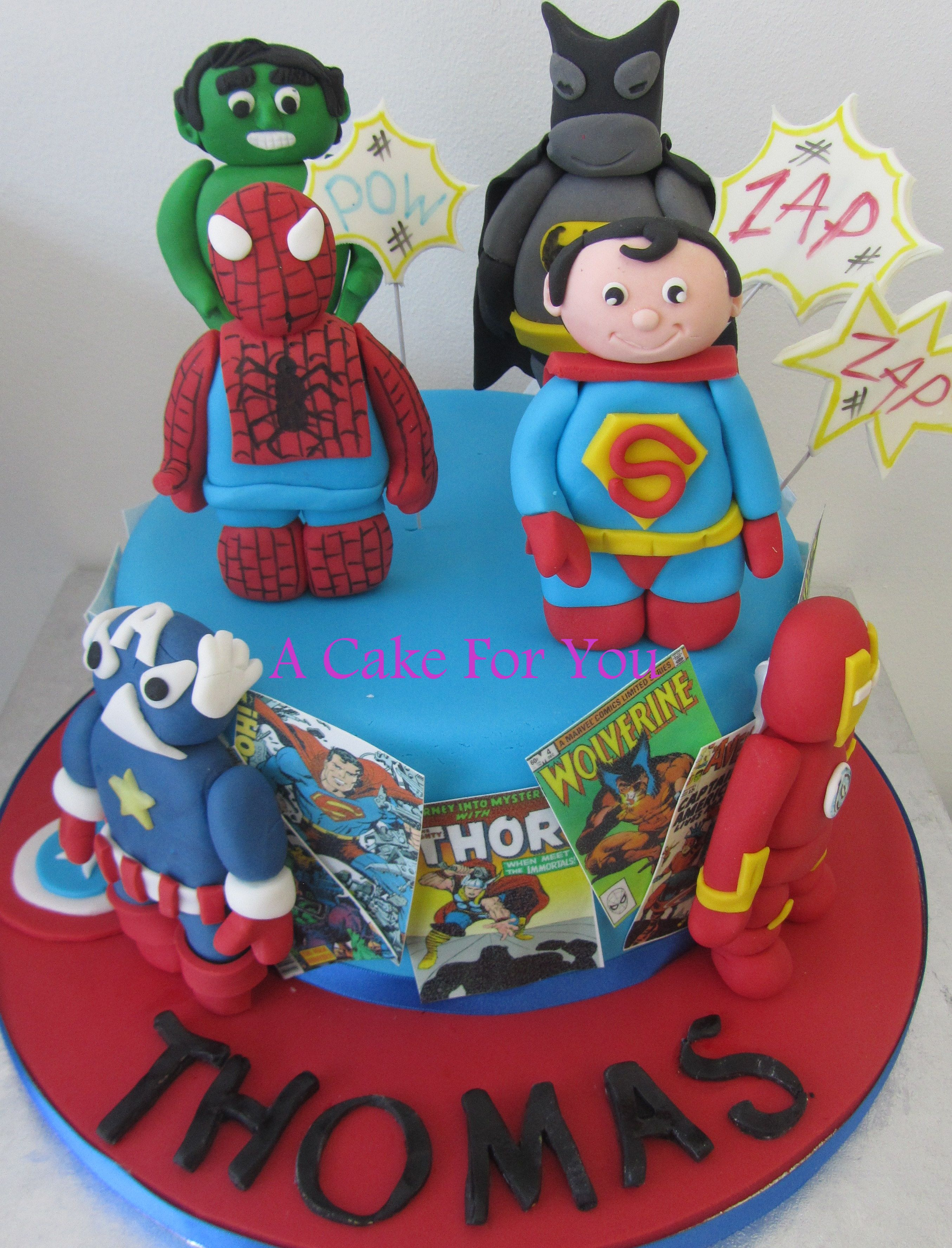 thomas marvel superhero cake follow us for more awesome cakes