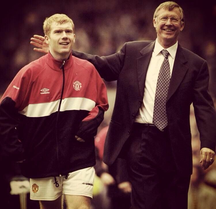Scholesy and SAF, this pic makes me smile Manchester