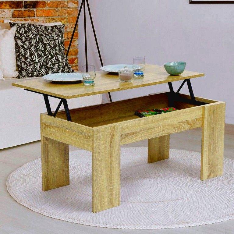 Merveilleux Table Basse Avec Plateau Relevable Detail