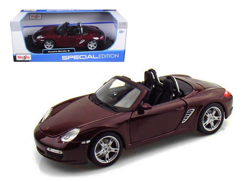 Porsche Boxster S Burgundy 1/18 cast Model Car by Maisto ... on victor wheels boxster, modified boxster, rhodium boxster, 911 or boxster, white boxster, my boxster, lowered boxster, silver boxster, subaru boxster,
