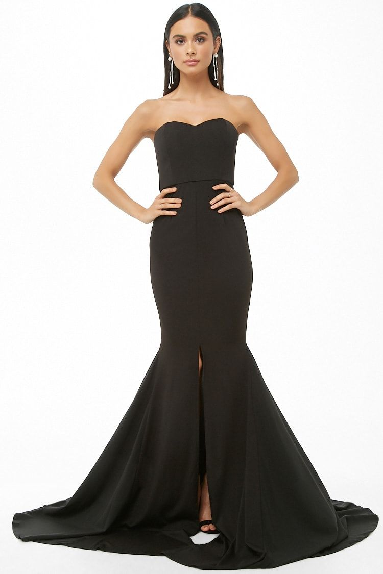 Strapless mermaid maxi dress f in pinterest dresses