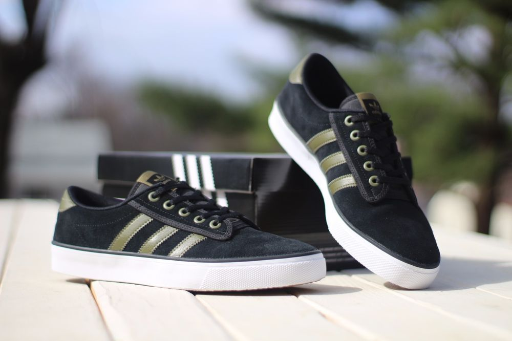 Adidas Men's Size 10 Or 11 Kiel Originals Casual Shoe B39566 Black Olive  Green #adidas