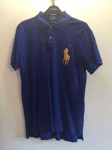 Polo By Ralph Lauren Men's Blue With Large Gold Emblem Polo Shirt Size M https://t.co/HaXc41igrT https://t.co/a4Rz2a4SFg