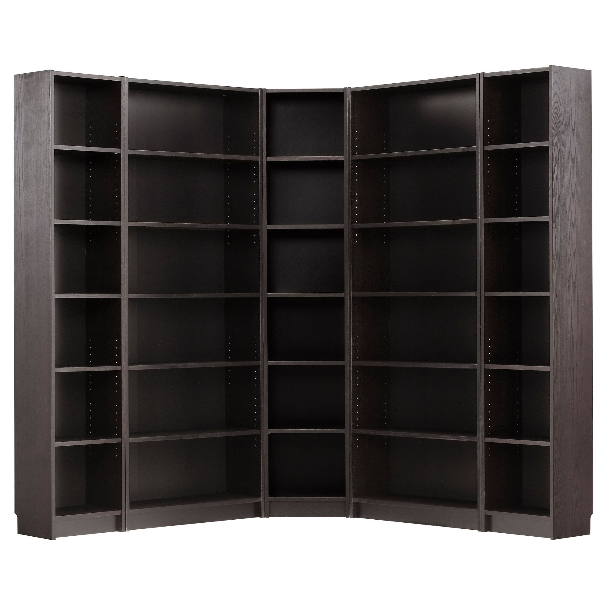 $322 BILLY Corner bination black brown IKEA