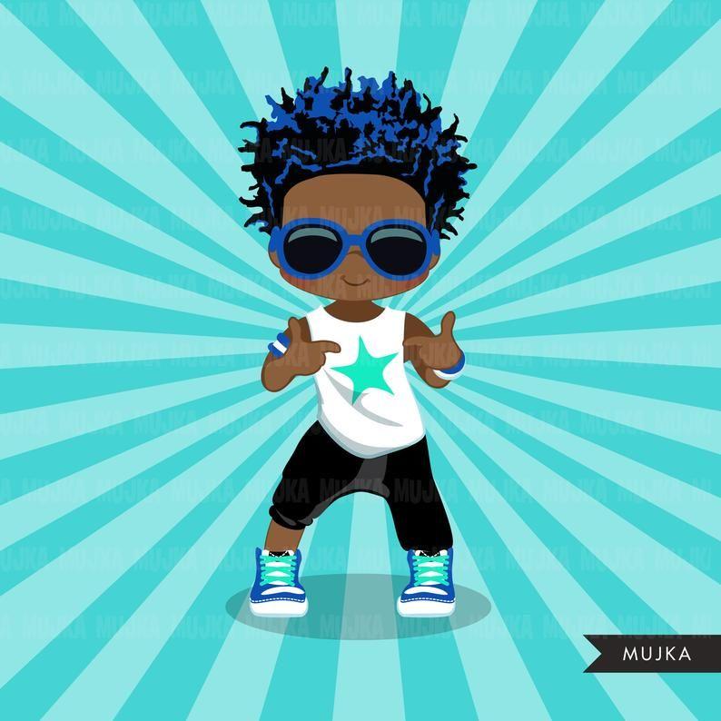 Afro Hip Hop Dancer Black Boys Clipart Hip Hop Sublimation Etsy Hip Hop Dancer Break Dance Black Girl Cartoon