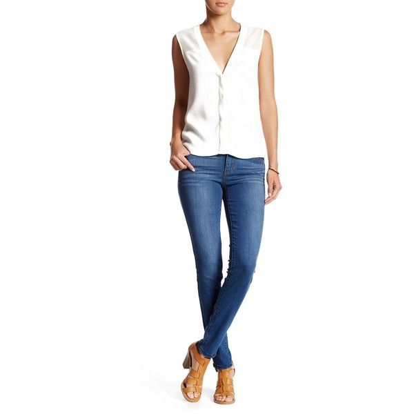 Jolt Ankle Zipper Skinny Jean (115 ILS) ❤ liked on Polyvore ...