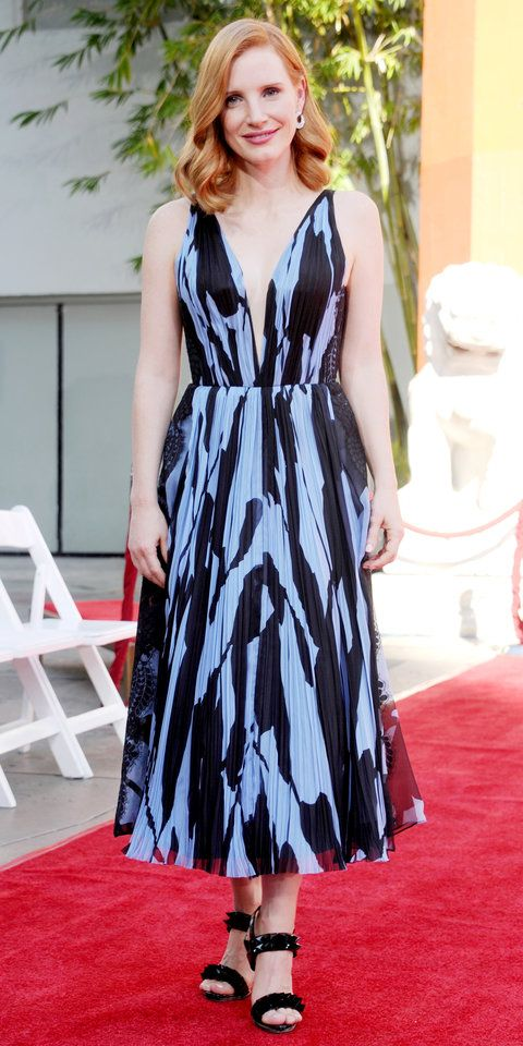 dff198fccc5a J Mendel - 2016 J Mendel, Red Hair Inspiration, Jessica Chastain, Actress  Jessica