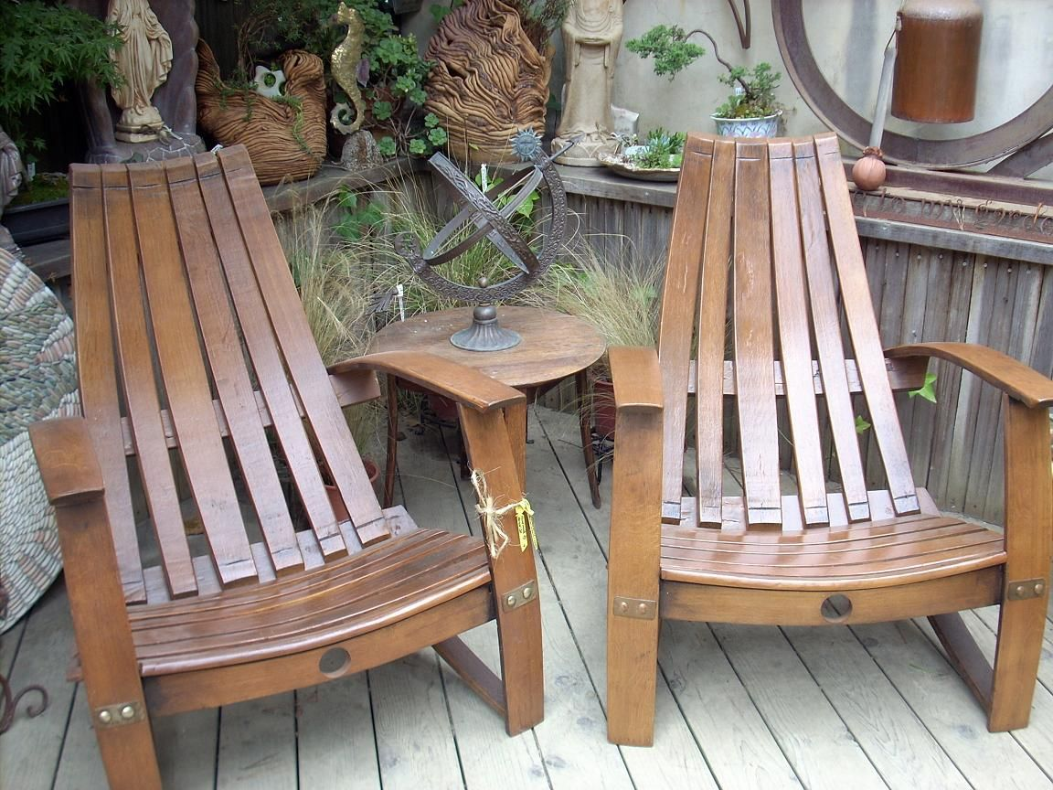 Chairs Made From Used Wine Barrels Need Barrel Furniture