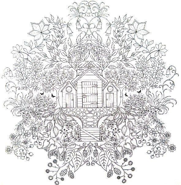 Jardin f erique coloriage pinterest coloriage - Dessin feerique ...
