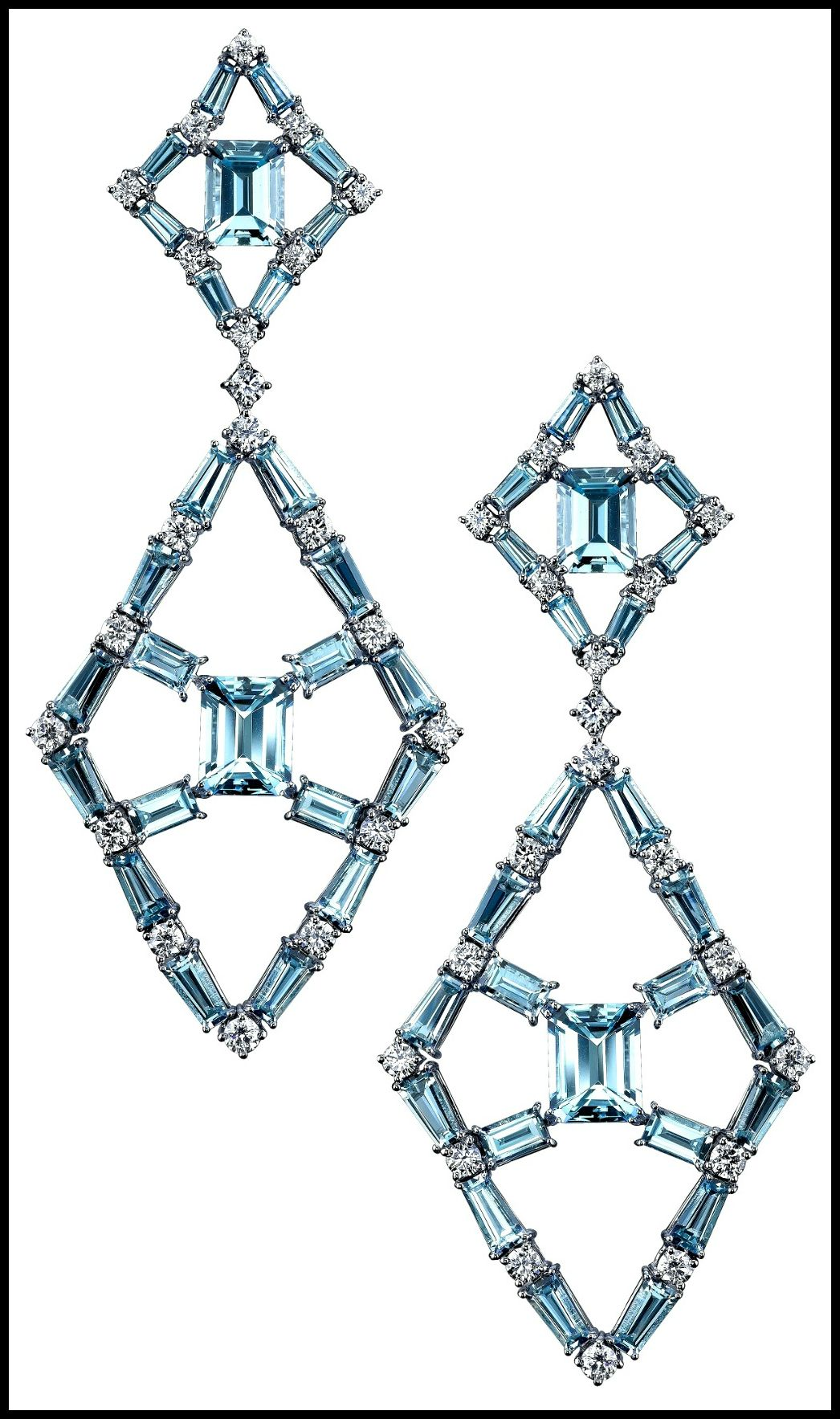 Winter chill: ice blue statement earrings. - Diamonds in the Library : Diamonds in the Library