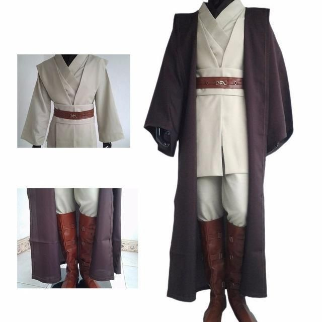 2016 hot sell anime Star Wars Jedi Master Obi Wan/Ben Kenobi cosplay ...