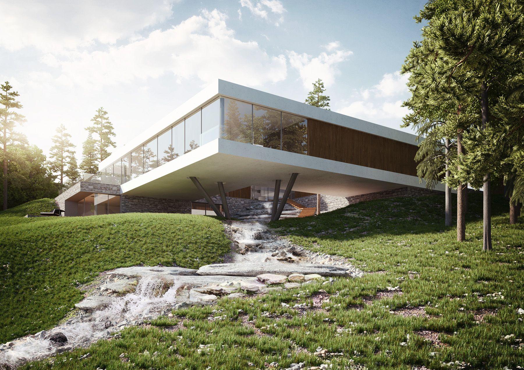 Charming Home Design Zlín Part - 7: 01 Privat Villa In Zlin. 1800 X 1273 (