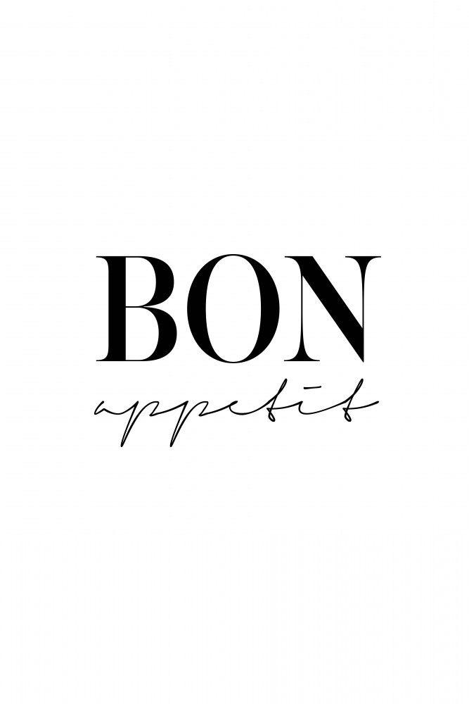Bon Appetit Poster Artboxone Frazy In 2019 Kuchendeko Bilder