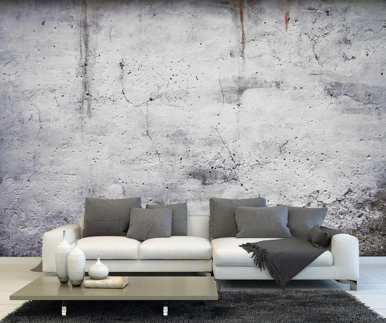 Dit fotobehang van een oude muur geeft je kamer een stoere for Behang per m2