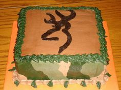 A young deer hunter wanted a Camo Cake for his food camo cake