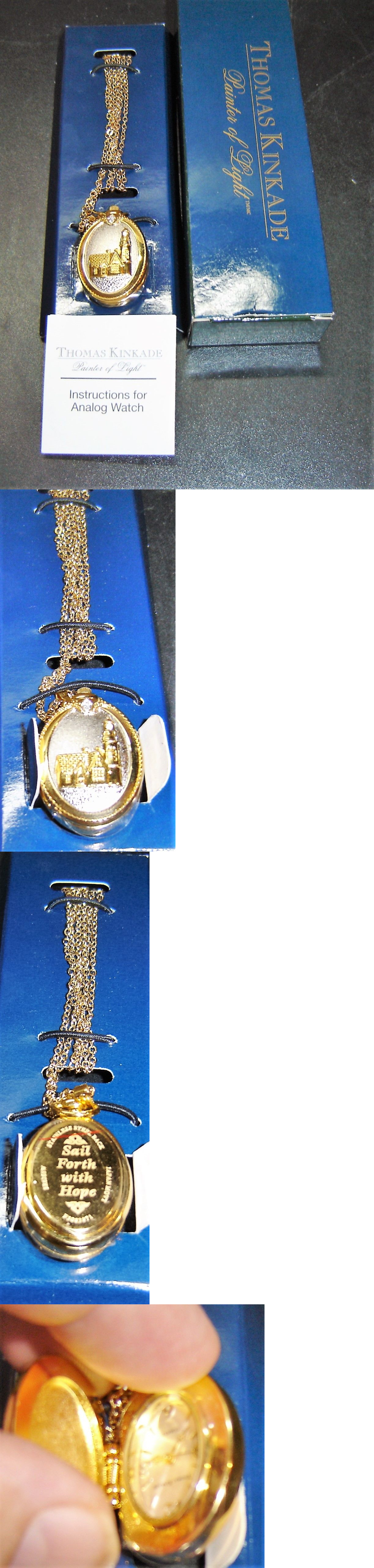 Necklace Watches 10329: New Thomas Kinkade Lighthouse Pendant Stainless Steel Quartz Analog Watch In Box -> BUY IT NOW ONLY: $45 on eBay!
