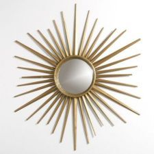 Martha Stewart Living Wales 30 in. x 30 in. Metal Antique Gold Framed Mirror-72930 at The Home Depot