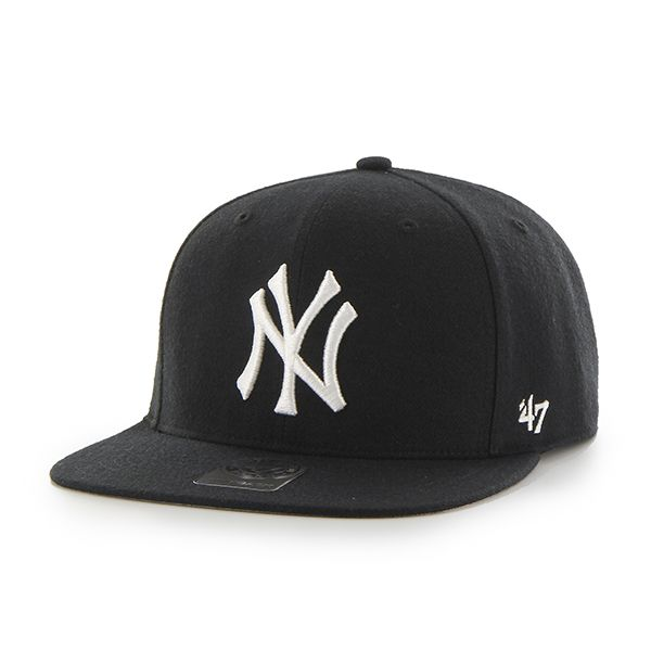 26838377cb006 ... Detroit Game Gear. New York Yankees No Shot Captain Black 47 Brand  Adjustable Hat