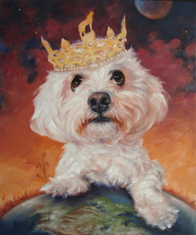 Master of His Domain, original art Oil Painting, custom