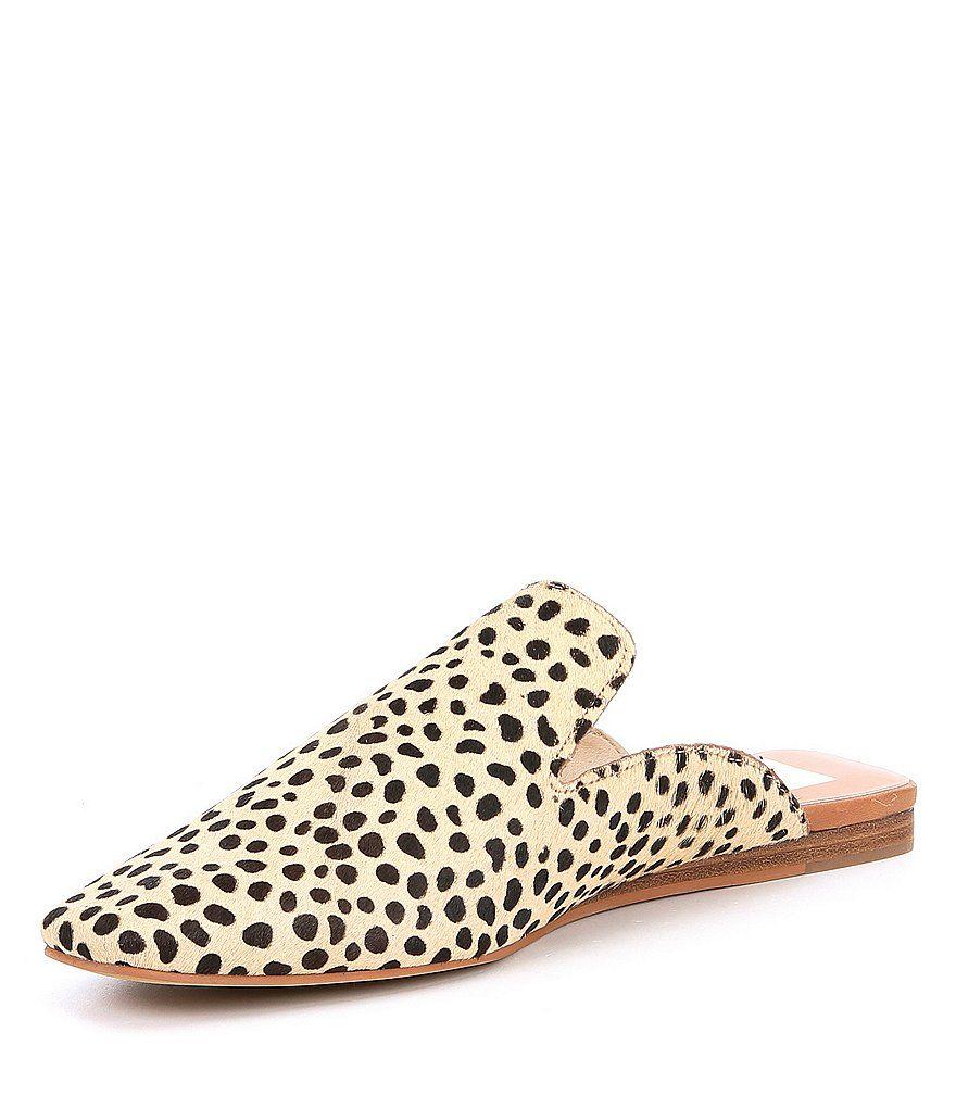 Dolce Vita Brie Leopard Calf Hair Mules