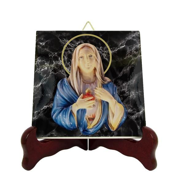 Our Lady of Tears of Syracuse - Catholic icon on tile ...