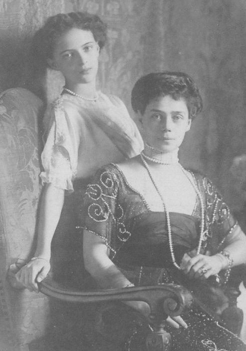 Grand Duchess Xenia Alexandrovna And Her Daughter Irina