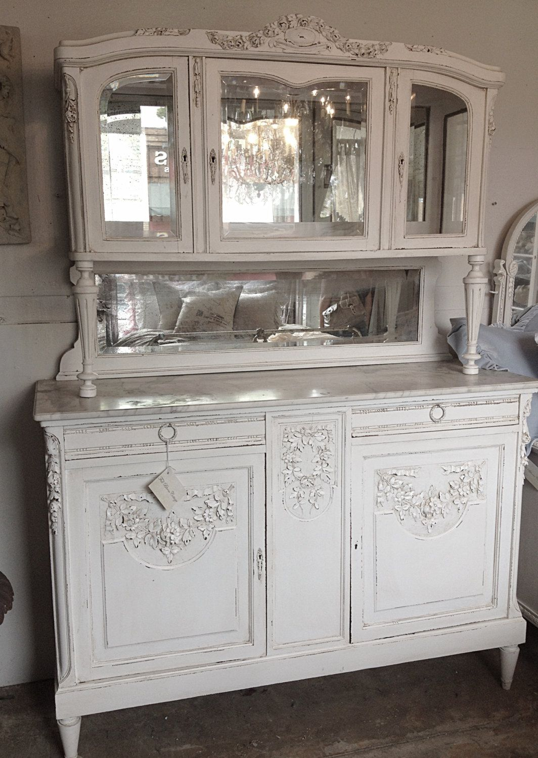 Muebles Shabby Chic Antique French Hunters Cabinet C1890 Decoracion Y