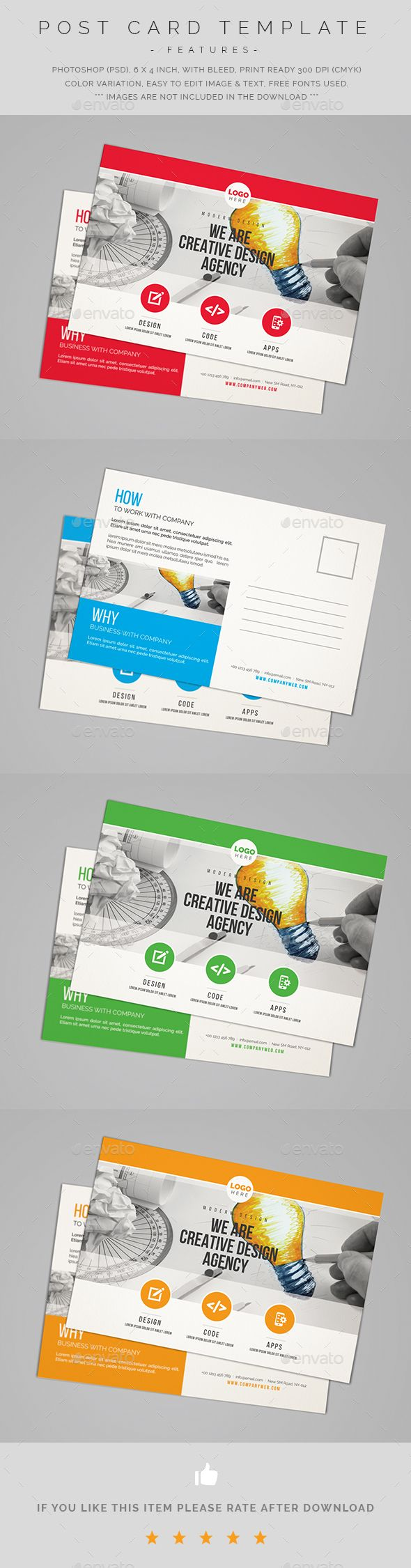 Creative Postcard Template Psd | Postcard Templates | Pinterest | Postcard  Template, Template And Creative