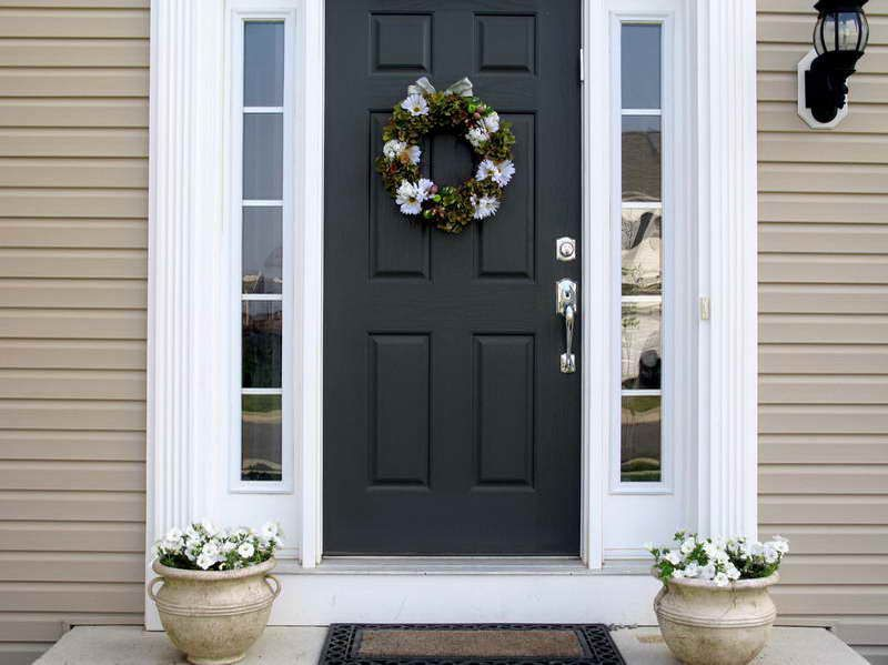 Images Of Black Fiberglass Front Door Home Depot Exterior Doors